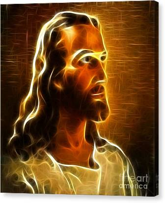 Beautiful Jesus Portrait Canvas Print by Pamela Johnson