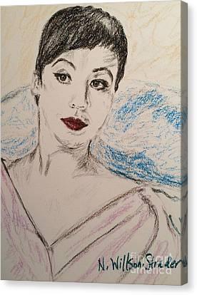 Beautiful Leslie Canvas Print by N Willson-Strader
