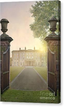 Beautiful Manor House At Sunrise Canvas Print by Lee Avison