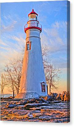 Beautiful Marblehead Lighthouse Canvas Print by Dan Sproul