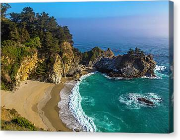 Beautiful Mcway Falls Cove Canvas Print by Garry Gay