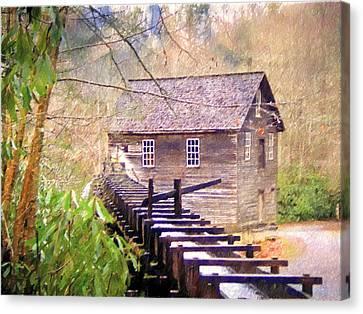 Beautiful Mill Sketch 6 Canvas Print by Marty Koch