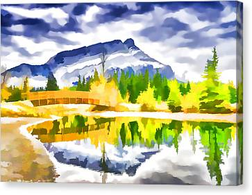 Beautiful Moraine Lake In Banff National Park 1 Canvas Print by Lanjee Chee