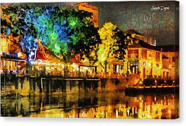 Beautiful Night - Da Canvas Print by Leonardo Digenio