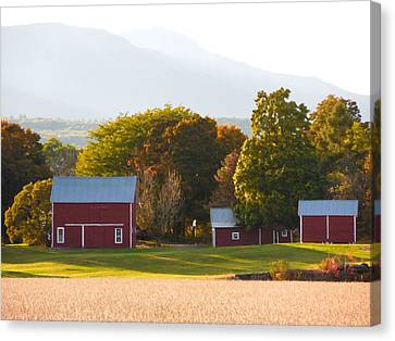 Beautiful Red Barn 3 Canvas Print by Lanjee Chee