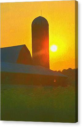 Beautiful Sunrise Over The Farm Canvas Print by Dan Sproul