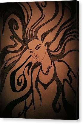 Beautiful Witch Canvas Print by Kiran Kumar