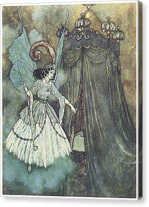 Beauty And The Beast Canvas Print by Edmund Dulac