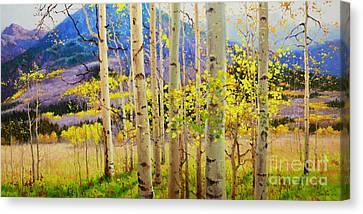 Beauty Of Aspen Colorado Canvas Print by Gary Kim