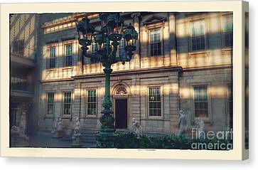 Beaux-arts Bronze Lamp Posts Canvas Print by Joseph Diaz