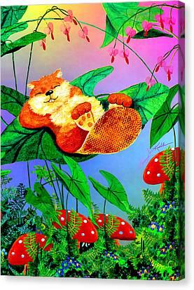 Beaver Bedtime Canvas Print by Hanne Lore Koehler