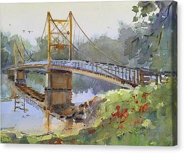 Beaver Bridge Canvas Print by Spencer Meagher