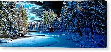 Beaver Brook Panorama Canvas Print by David Patterson