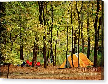 Beaver's Bend Camping Canvas Print by Tamyra Ayles