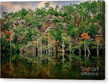 Beaver's Bend Overlook Canvas Print by Tamyra Ayles
