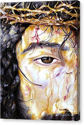 Because Of Love Canvas Print by Sheron Petrie