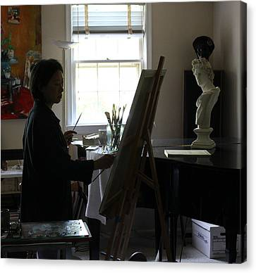 Becky Painting Chopin Canvas Print by Becky Kim