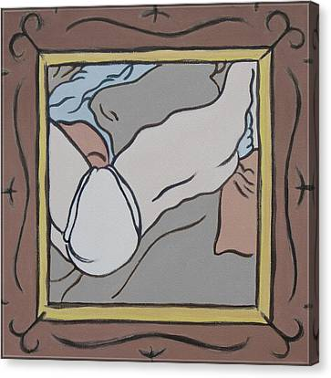 Bedscape Framed At Four Ten Am Canvas Print by Stan  Magnan