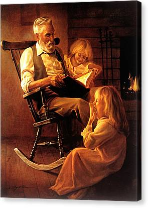 Bedtime Stories Canvas Print by Greg Olsen