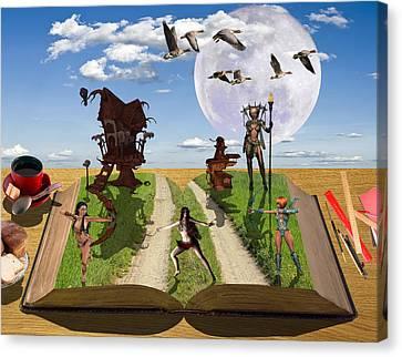 Bedtime Stories Canvas Print by Solomon Barroa