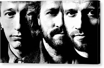 Bee Gees Canvas Print by VRL Art