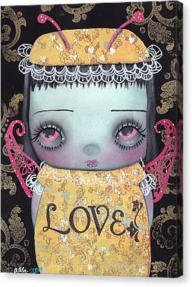 Bee Girl Canvas Print by  Abril Andrade Griffith