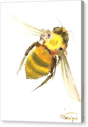 Bee Canvas Print by Suren Nersisyan