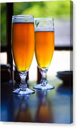 Beer Glass Canvas Print by Sakura_chihaya+