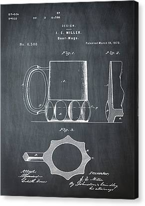 Beer Mug 1873 In Chalk Canvas Print by Bill Cannon