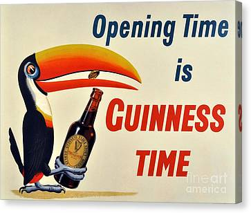 Beer Poster - Guinness Canvas Print by Roberto Prusso