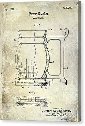 Beer Stein Patent Canvas Print by Jon Neidert