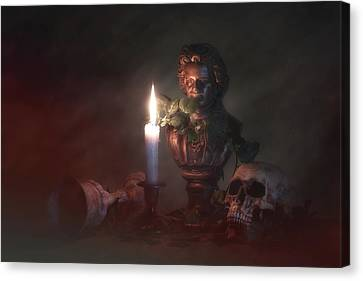 Beethoven By Candlelight Canvas Print by Tom Mc Nemar