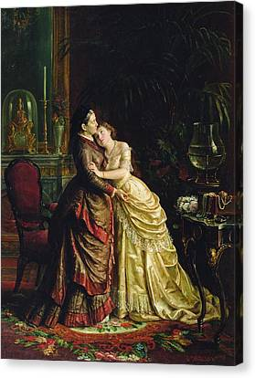 Before The Marriage Canvas Print by Sergei Ivanovich Gribkov