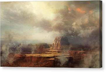 Before The Rain Canvas Print by Philip Straub