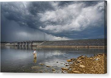 Before The Storm Canvas Print by Steven  Michael