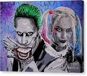 The Joker And Harley. Behind Every Great Villain Canvas Print by Chris Harland