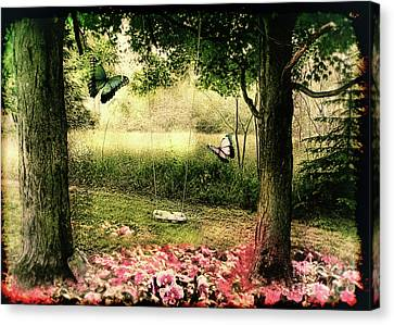Behind Our House Canvas Print by Mindy Sommers