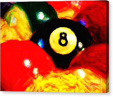 Behind The Eight Ball Canvas Print by Wingsdomain Art and Photography