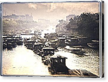 Beijing-hangzhou Grand Canal  Canvas Print by Heiko Koehrer-Wagner