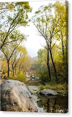 Beijing Huairou Shentangyu Landscape 1 Canvas Print by Lanjee Chee