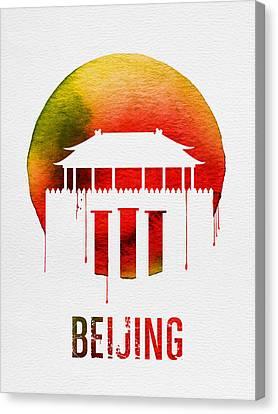 Beijing Landmark Red Canvas Print by Naxart Studio