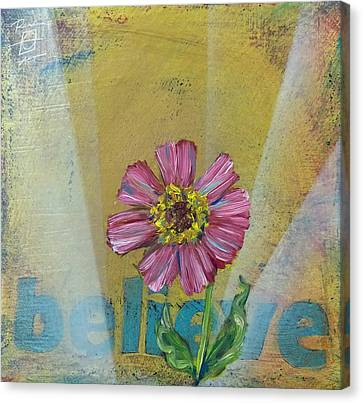 Believe Zenia Canvas Print by Andrea LaHue