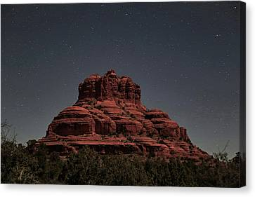 Bell Rock With Stars Canvas Print by Donna Kennedy