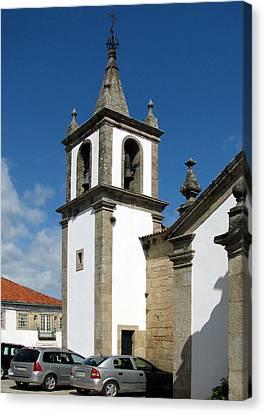 Bell Tower Of Santa Maria Church In Vigo Spain Canvas Print by Carla Parris
