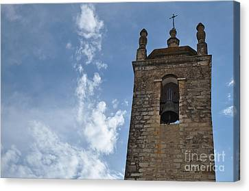 Bell Tower Of Matriz Church In Loule Canvas Print by Angelo DeVal