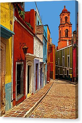 Bell Tower View Canvas Print by Mexicolors Art Photography