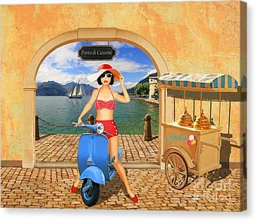 Belladonna Want An Ice Cream Canvas Print by Monika Juengling