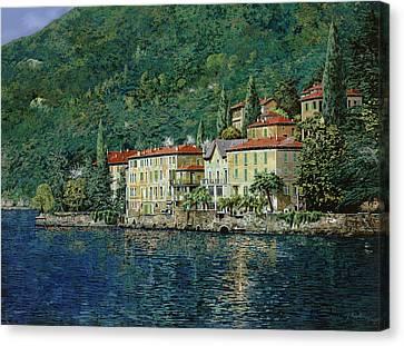 Bellano On Lake Como Canvas Print by Guido Borelli