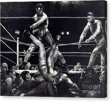 Bellows: Dempsey, 1924 Canvas Print by Granger