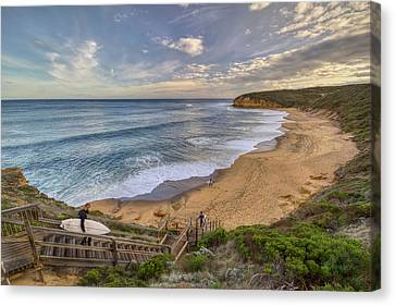 Bells Beach Canvas Print by Benjamin Berlin
